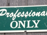 Professionals ONLY